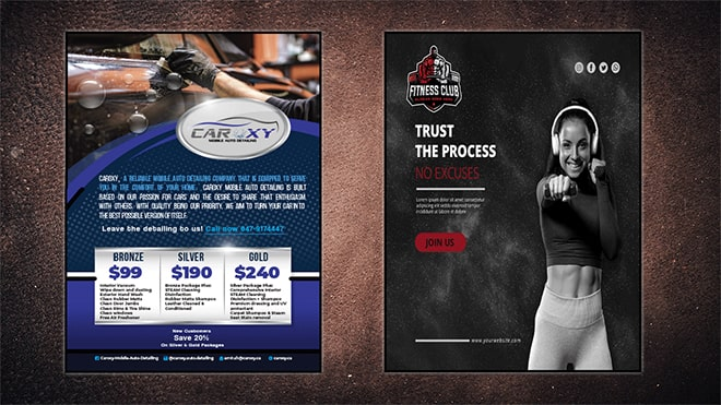 Fitness Graphic Design Services