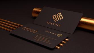 Sherina Business Card Mockup for eSolutify