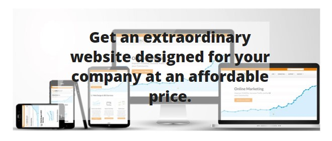 Get an extraordinary website designed for your company at an affordable price